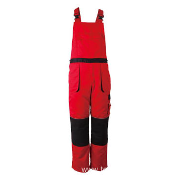 Red with black  Winter Bib Pants